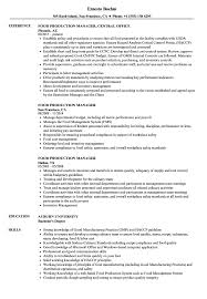Production Manager Resume Examples Food Production Manager Resume Samples Velvet Jobs 9