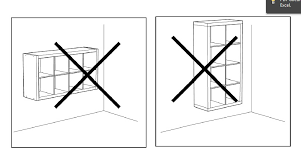 how to mount a safe floating 2 x 4 expedit shelf