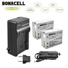 <b>2Pack Battery</b>+Charger NB-10L NB10L For Canon PowerShot SX40 ...