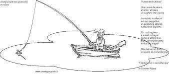Filastrocca Sulla Pesca Da Colorare E Disegnare Crearegiocando