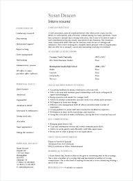 career objective examples for internships internship resume template for college students download example