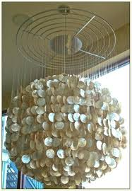 capiz shell lighting chandelier shell chandelier lighting quick view a manor seashell chandelier champagne shell chandelier