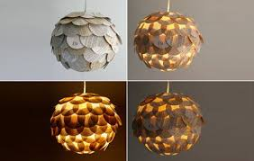 recycled lighting fixtures. Marvelous Recycled Light Fixtures Glowing Artichoke Lamps Made From Book Pages Treehugger Lighting Y