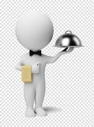 Computer Animation Art And Design Human Holding Gray Stainless Steel Tray Art Illustration