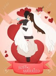Cartoon Wedding Invitation Cards Designs Just Married Wedding Invitation Card Design