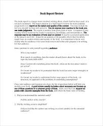 sample book report documents in pdf word college book report