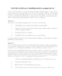 Letter Of Understanding Template Word Memorandum Of Understanding University Template