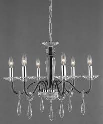 elegant lighting 6906d23b ec avalon 6 light crystal chandelier in black with elegant cut clear crystal