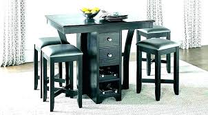 table with leaf and chairs bar height kitchen table with leaf high top round tall tables