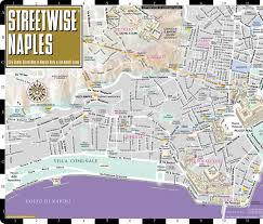 streetwise naples map  laminated city center street map of naples