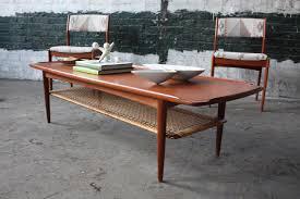 mid century modern teak coffee table outdoor