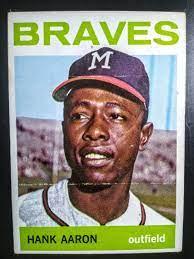 Hank aaron, Baseball cards, Atlanta braves