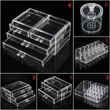 au acrylic clear conner make up case cosmetic storage holder organizer