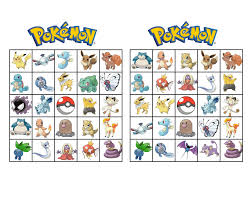Musings Of An Average Mom Pokemon Bingo