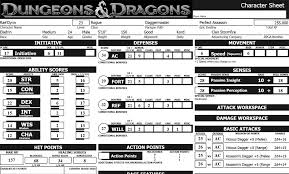 dungeons and dragons character sheet online making a great role play character for dungeons and dragons