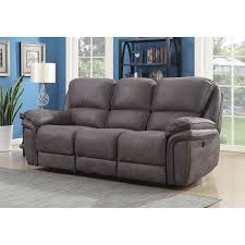 henry dual power reclining sofa with memory foam seat toppers and usb charging ports today overstock 17613647