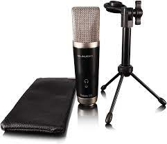 M-Audio Vocal Studio M-Audio Interface, USB-Mikrofon, 16 mm Mikrofonkapsel  - schwarz/silber - inkl. Ignite Recording Software: Amazon.de:  Musikinstrumente