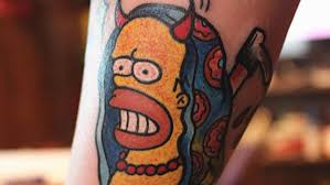 The Worst Simpsons Tattoos Of All Time Nsfw Four Finger Discount