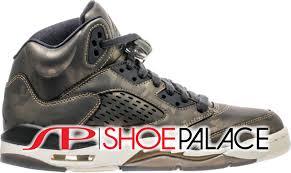jordan retro 5. air jordan retro 5 heiress grade school lifestyle shoe (black camo/light bone) free shipping