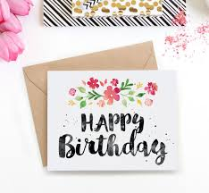 Printable Birthday Card Spring Blossoms Clementine Creative