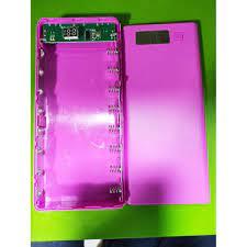Box sạc dự phòng lắp 8 cell 18650 vỏ nhựa màn LCD màu hồng - Pin Sạc Dự  Phòng Di Động Thương hiệu OEM