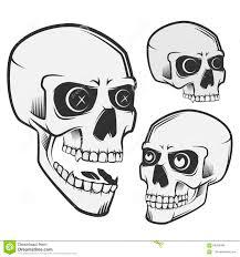 винтажные черепа установили для эмблем логотипа стиля татуировки