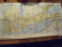 Vintage Original Sectional Aeronautical Chart Map 1966