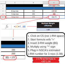 Projected Max Chart How To Build Your Own 1 Rep Max Calculator Barbend