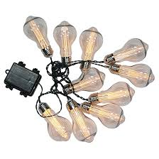 string lights edison battery operated 10 led warm white