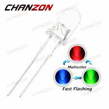 Fast Blinking Light Us 4 21 100pcs 5mm Fast Flashing Led Diode Flash Rgb Color Changing Blinking Transparent Multicolor Flicker Round Light Emitting Diode In Diodes