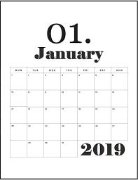 Best 2019 Calendar Design January 2019 Best Wall Calendar Print Calendar Cool