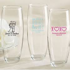 personalized stemless champagne glasses wedding bridal shower birthday