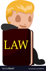 worker man lawyer cartoon book vector image