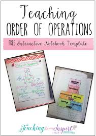 read this post to see an example anchor chart for teaching order of operations and grab