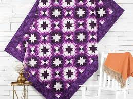 Twinkling Stars Purple Quilt Kit | Craftsy &  Adamdwight.com