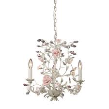 heritage 3 light fl chandelier lighting fixture cream porcelain flowers with crystal accents b12333