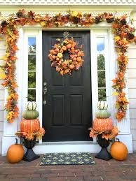 Pumpkin topiaries is a great alternative to traditional ones if you want to  decorate your front