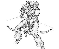 Small Picture Hawkeye Avengers Coloring Pages Coloring Coloring Pages