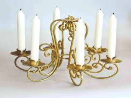 electric candle chandelier image of real wrought iron non large size