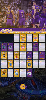 OC]Lakers January Schedule Lockscreen ...