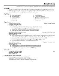 best adoptions social worker resume example livecareer choose