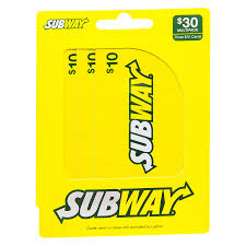 subway 3 pack 10 gift cards1 0 ea