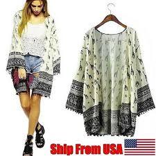 2017 Fashion Women Cardigan Printed Shawl <b>Kimono Boho</b> Long ...