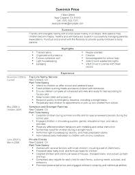 Skills For Nanny Resume Russiandreams Magnificent Nanny Resume Skills