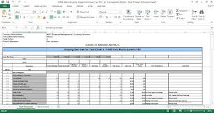 Pricing Model Excel Template Standard Cost Proposal Excel Template Engineering Management