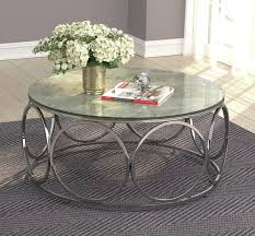 round coffee table with casters beige