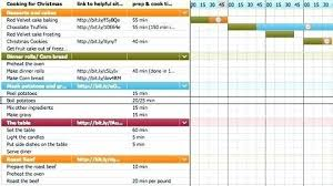 Dinner Plan Hourly Gantt Chart Excel Template Free In 2019