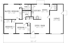 3 bedroom 2 bath house plans. Delighful Bedroom Ranch Style House Plan  3 Beds 200 Baths 1046 SqFt 1 In Bedroom 2 Bath Plans