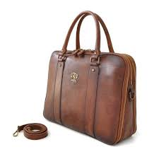 side of pratesi bruce range magliano u zip leather briefcase top handle work bag