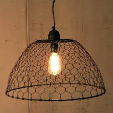 basket pendant light. Chicken Wire Light Basket Pendant Lamp